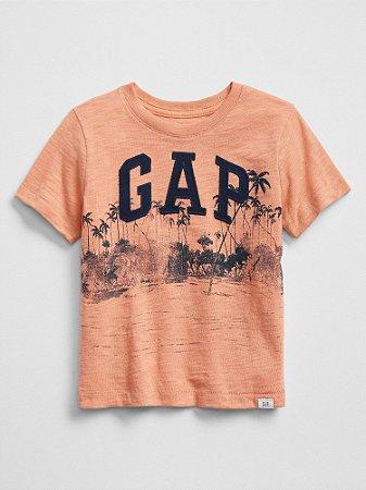 Camiseta GAP LOGO - Salmão