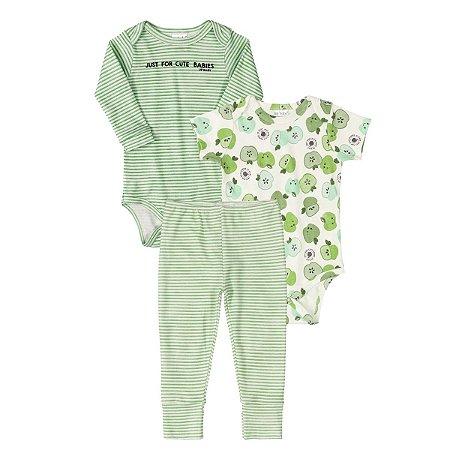 Conjunto Unissex Up Baby - Maça Verde