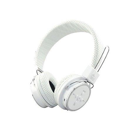 8975e325e Fone Ouvido B05 Headphone Bluetooth Branco - Multti Tudo