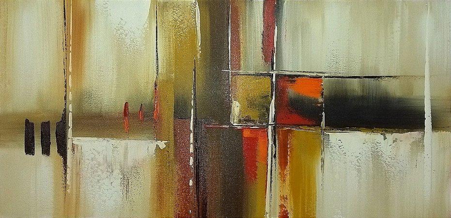 4039b3ff3 Pintura Quadro Tela Abstrato em tons pastéis. 50 x 100 cm. - Fer ...