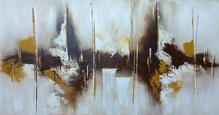 415c154c3 Pintura Quadro  Tela Abstrata em tons de sépia