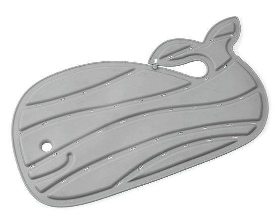 Tapete de Banho Baleia Moby Antiderrapante Cinza - Skip Hop