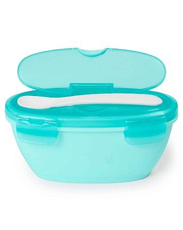 Kit Alimentação Bowl e Colher Easy-Serve Azul - Skip Hop