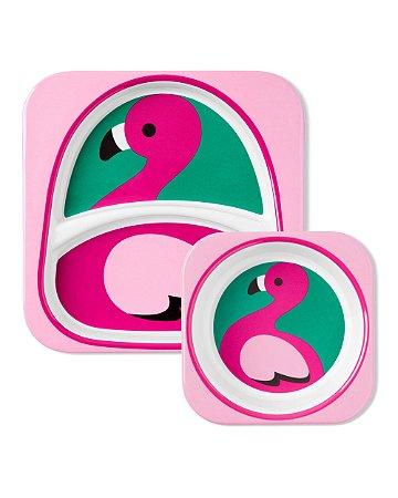 Set de Pratos Zoo Flamingo - Skip Hop
