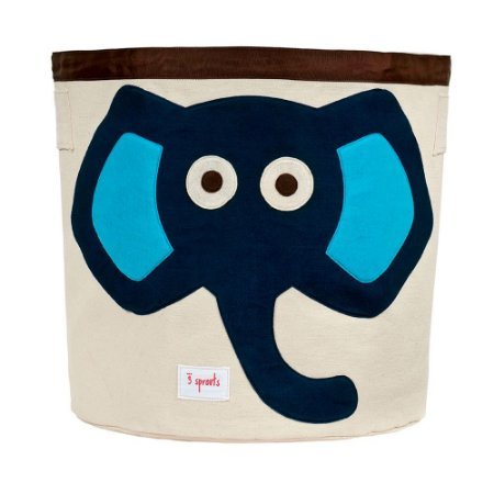 Organizador Redondo Elefante Azul - 3 Sprouts