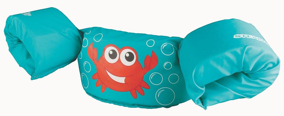 Boia Infantil Puddle Jumper Colete Caranguejo Verde - Puddle Jumper