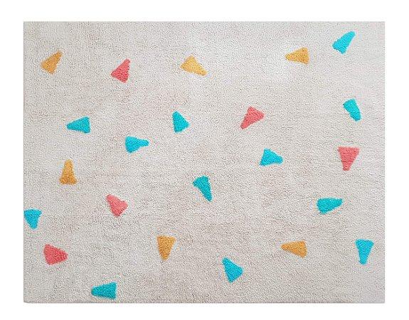 Tapete Infantil Confetti Bege Multicolorido - Nina & Co.