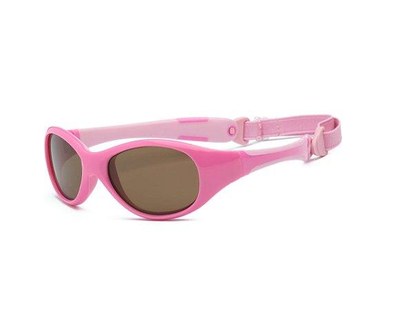 Óculos de Sol Explorer Rosa Claro e Escuro - Real Shades