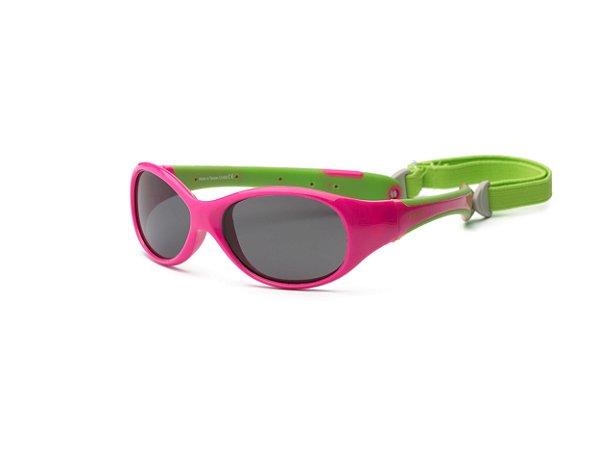 Óculos de Sol Explorer Rosa e Verde - Real Shades