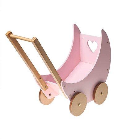 Carrinho de Boneca Rosa - Bup Baby