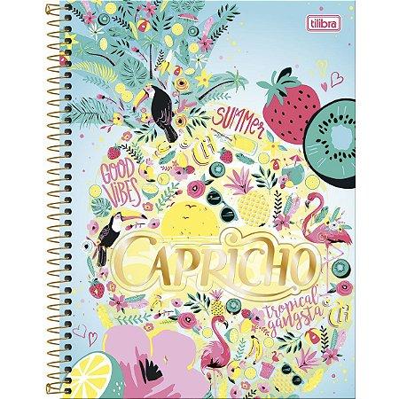 Caderno Espiral Capa Dura Universitário 1 Matéria Capricho SUMMER - 96 Folhas