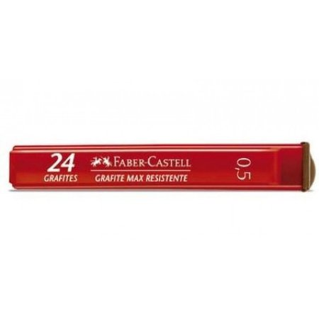 Grafite 0,5mm B Faber Castell Tubo com 24 grafite Max resistente Mina Polymer