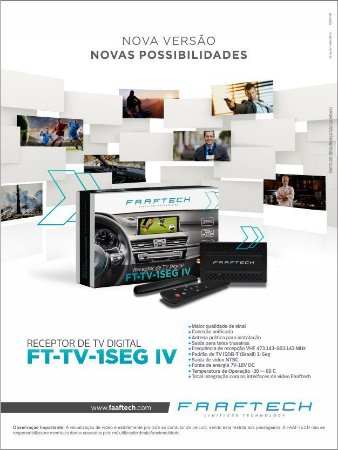 Receptor De TV Digital Automotivo Faaftech FT-TV-1SEG IV