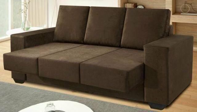 Sofa Retratil 3 Lugares Suede Saldao Dos Moveis Lugar De Moveis
