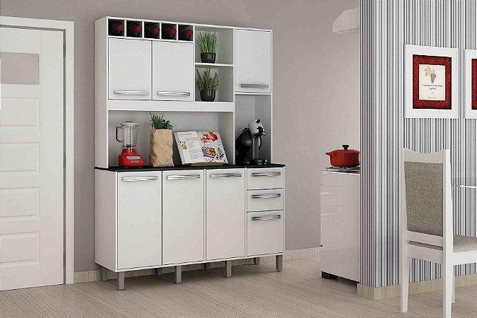 Armário de Cozinha Compacta Granada 7 PT 2 GV ValdeMoveis