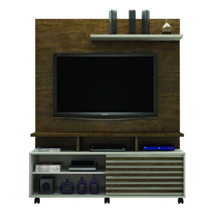 "Home Theater Para TV Até 60"" Star Ipê/Off white - Valdemóveis"