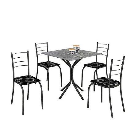 Mesa com 4 Cadeiras Rio - Móveis Teixeira