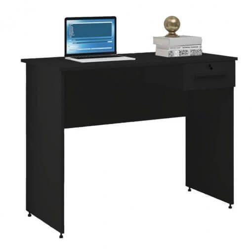 Mesa PC Gamer Home Office Hanna Preta - Móveis Borsari