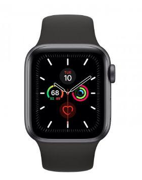Watch Series 5 40mm Caixa Cinza-Espacial de Alumínio com Pulseira Preta Esportiva: Cellular - Pré-venda
