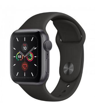 Watch Series 5 40mm Caixa Cinza-Espacial de Alumínio com Pulseira Preta Esportiva: Modelo GPS - Pré-venda