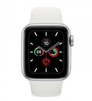 Watch Series 5 40mm Prateado de Alumínio com Pulseira Branca Esportiva: Cellular - Pré-venda
