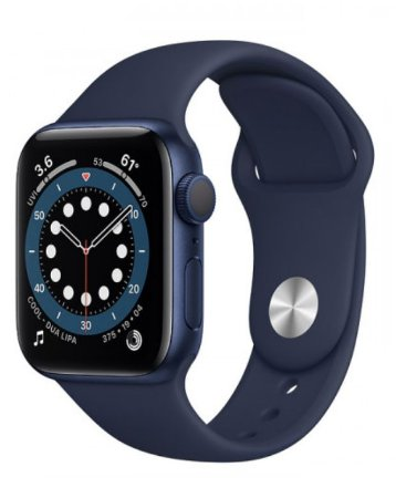 Watch Series 6 44mm Caixa Azul de Alumínio com Pulseira Azul Esportiva: Modelo Cellular
