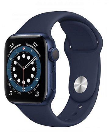Watch Series 6 40mm Caixa Cinza-espacial de Alumínio com Pulseira Preta Esportiva: Modelo Cellular