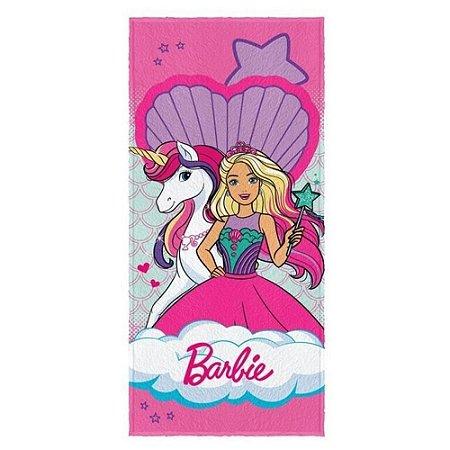 Toalha Felpuda de Banho Estampada Barbie Reinos Magicos 4