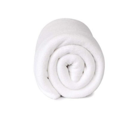 Manta Cobertor Sofisticata Casal Branca - Atlantica