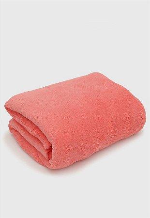 Manta Cobertor Sofisticata Casal Coral - Atlantica