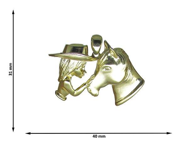 Pingente Menina e Cavalo ( Sem Coração )