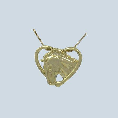 Colar Coração Cabeça de Cavalo