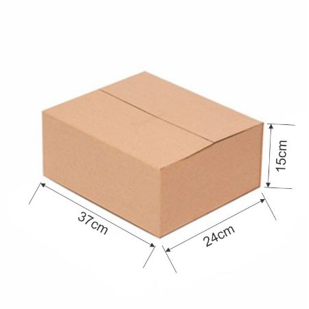 Caixa de Papelão para Sedex Correio e E-Commerce - C:37 x L:24 x A:15 cm (Kit c/ 25 unidades)