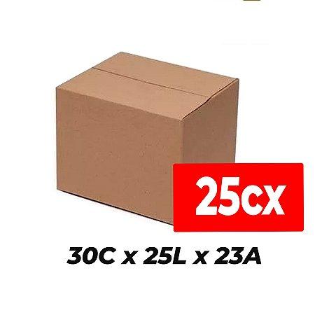 Caixa de Papelão para Sedex Correio e E-Commerce - C:30 x L:25 x A:23 (Kit 25 Peças)