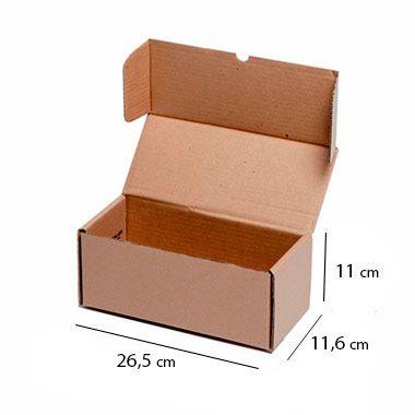 Caixa de Papelão para Sedex Correio e E-Commerce - C:26,5 x L:11,6 x A:11 cm (Kit c/ 25 unidades)