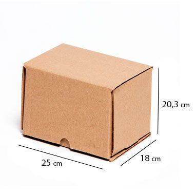 Caixa de Papelão para Sedex Correio e E-Commerce - C:25 x L:18 x A:20 cm (Kit c/ 25 unidades)