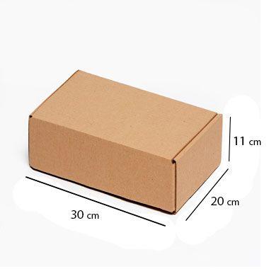 Caixa de Papelão para Sedex Correio e E-Commerce - C:30 x L:20 x A:11 cm (Kit c/ 25 unidades)