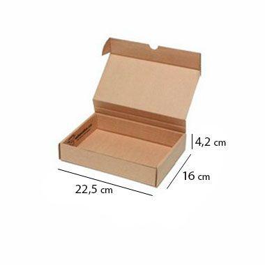 Caixa de Papelão para Sedex Correio e E-Commerce - C:22 x L:16 x A:4 cm (Kit c/ 25 unidades)