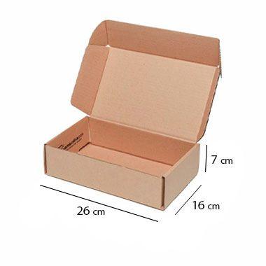 Caixa de Papelão para Sedex Correio e E-Commerce - C:26 x L:16 x A:7 cm (Kit c/ 25 unidades)