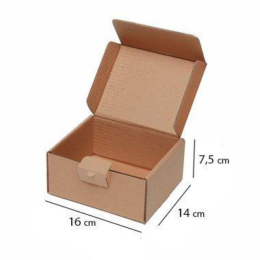 Caixa de Papelão para Sedex Correio e E-Commerce - C:16 x L:14 x A:7,5 cm (Kit c/ 25 unidades)