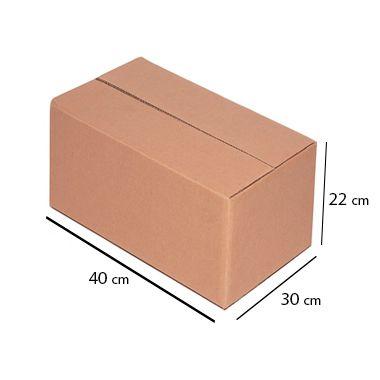 Caixa de Papelão para Transporte e Mudança - C:40 x L:30 x A:22 cm (Kit c/ 5 unidades)
