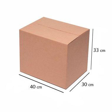 Caixa de Papelão para Transporte e Mudança - C:40 x L:30 x A:33 cm (Kit c/ 5 unidades)