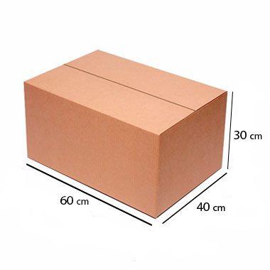 Caixa de Papelão para Transporte e Mudança - C:60 x L:40 x A:30 cm (Kit c/ 5 unidades)