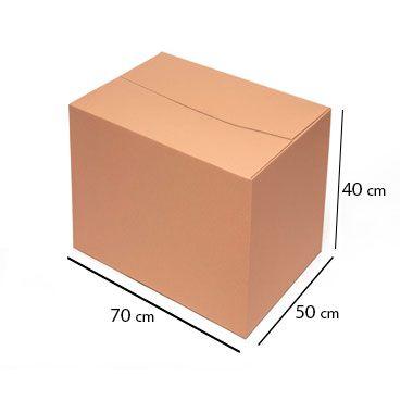 Caixa de Papelão para Transporte e Mudança - C:70 x L:50 x A:40 cm (Kit c/ 5 unidades)