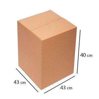 Caixa de Papelão para Transporte e Mudança - C:43 x L:43 x A:40 cm (Kit c/ 5 unidades)