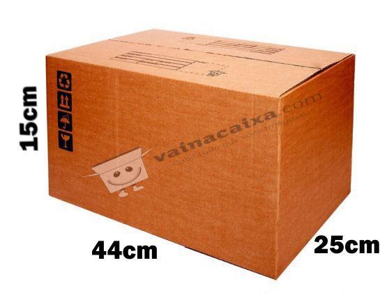 Caixa de Papelão para Transporte e Mudança Reforçada - C:44 x L:25 x A:15 (5 Peças R$5,18/Pç)
