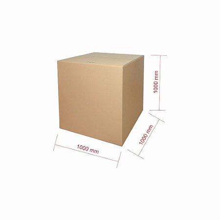 Caixa de Papelão para Transporte e Mudança Reforçada - C:100 x L:100 x A:100 (1 Peça)
