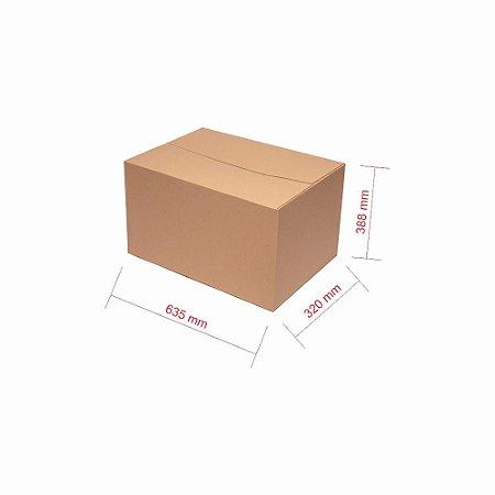 Caixa de Papelão para Transporte e Mudança Reforçada - C:63 x L:32 x A:38 (5 Peças R$9,70/Pç)