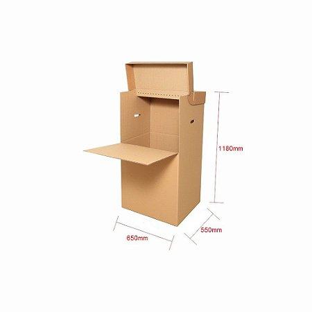 Caixa de Papelão Cabideiro para 20 Cabides - C:65 x L:55 x A:118 (1 Peça)