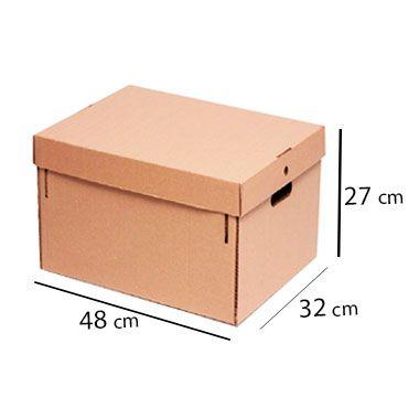 Caixa de Papelão para Arquivo c/Tampa - 20 Kg - C:48 x L:32 x A:27 cm (Kit c/ 5 unidade)